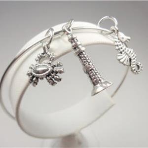 Jewelry - NAUTICAL CRAB SEA HORSE & LIGHTHOUSE BRACELET